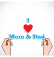 Love for mom and dad concept vector