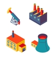 Flat isometric factory icons vector