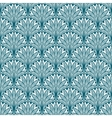 Blue repeating geometric floral pattern vector