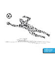 Active soccer player shape concept vector