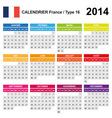 Calendar 2014 france type 16 vector