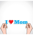 Love for mom concept vector