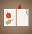 Note papers tag vintage style template design vector
