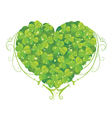Bio heart made of floral vector