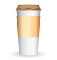 Paper coffee long cup vector