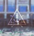 Logo template for sea fooda bar grill restaurant vector