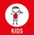 Kids design vector