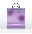 Violet paper shopping bag vector