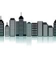 Cityscape silhouette vector