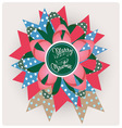 Merry christmas song paper jewelry vector