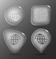 Shift globe glass buttons vector