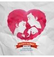 Happy family logo design template motherhood or vector