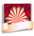 A stage and a blank paper vector
