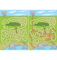 Elephant maze vector