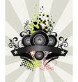 Urban grungy music banner vector
