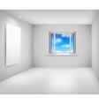 Room and window vector