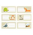 Animal cards vector