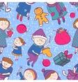 Childish christmas seamless pattern vector