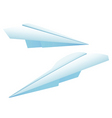 Two paper planes vector