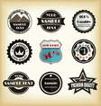Vintage styled label design vector