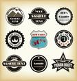 Vintage styled label design vector