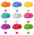 Balloons bunches with letters set vector