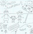 Summerblackwhite vector