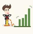 Businessman make a chart going upbusiness idea vector