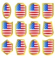 Usa flag icon set vector