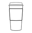 Paper coffee cup outline vector