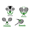 Tennis sport emblems vector