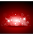 Red background with white lights vector