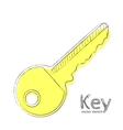 Gold key vector