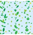 Seamless texture with green leaves vector