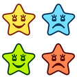 Positive and negative faces of stars vector