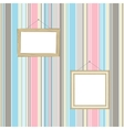 Frames on striped wallpaper background vector