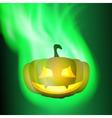Burning pumpkin vector