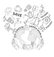Doodles ecology concept vector