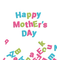 Mothers day card alphabet vector