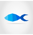 Fish blue vector