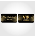 Vip card with gold abstract pattern vector