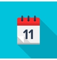 Flat calendar icon date and time background vector