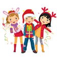 Childrens christmas party a surprise vector