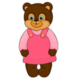 Little girl bear cartoon isolated on white vector