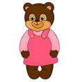 Little girl bear cartoon isolated on white vector
