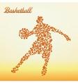 Abstract basketball player vector