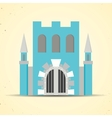 Color flat castle icon for web and mobile vector