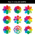 - color flower wheel vector