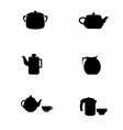 Teapot silhouette vector