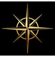 Gold compass icon vector